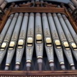 Detail of organ pipes
