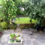 the garden in summer - a place to sit or play